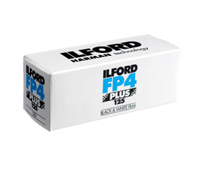 ILFORD FP4+ 125 ISO BLACK AND WHITE 120 ROLL FILM