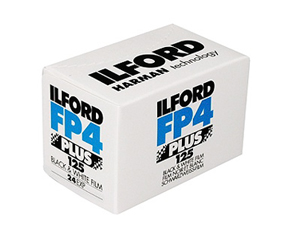 ILFORD FP4+ 125 ISO 24 EXPOSURE 35MM BLACK AND WHITE FILM