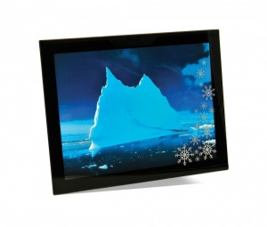 Adventa Snowflake Glass Mount 6''x8'' Black