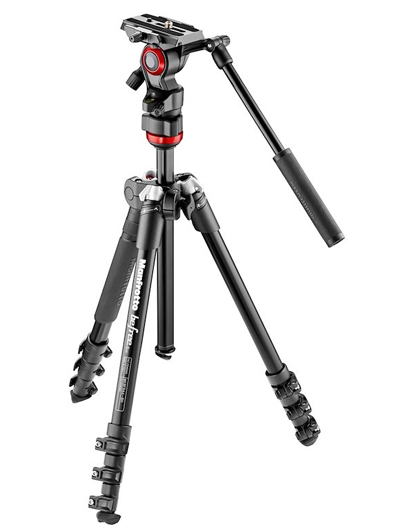Manfrotto MVKBFR-LIVE Travel Tripod Kit with Video Head