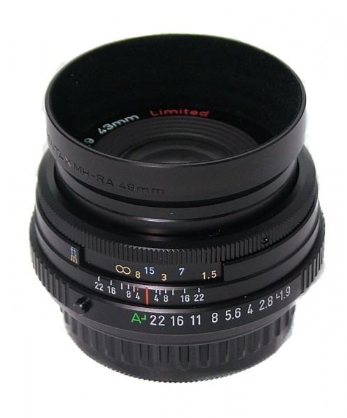 Used Pentax 43mm F1.9 SMC Limited Lens (Black)