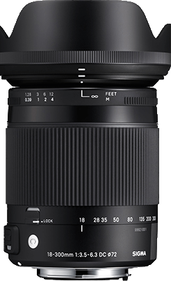 Sigma 18-300mm F3.5-6.3 DC MACRO OS HSM Contemporary - Canon